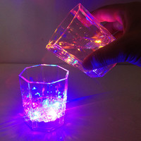 Luminous Alcohol Cup Fashion Creative Water Response LED Flash Light Drink Cup Bar Cup