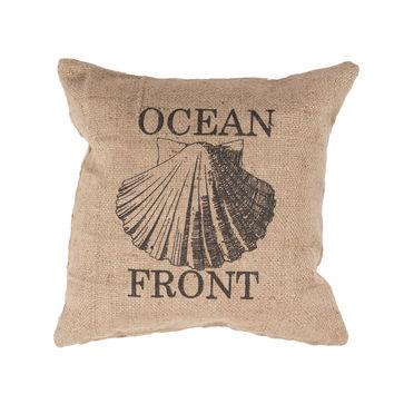 Jaipur Rugs Coastal Pattern Taupe/Black Jute Pillow RUE03