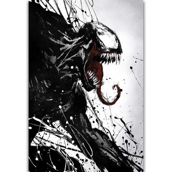 S2903 Venom Movie Tom Hardy Marvel Comics Wall Art Painting Print On Silk Canvas Poster Home Decoration