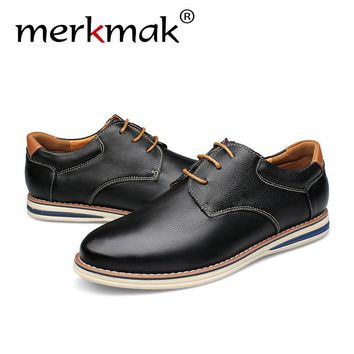 Merkmak Luxury Brand Men Shoes 2016 Fashion Casual Genuine Leather Moccasins Sapatos Masculino Comfortable Big Size Men Shoes