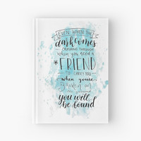 'Dear Evan Hansen- You Will Be Found' Hardcover Journal by bwaycalligraphy