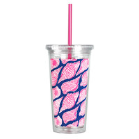 Lilly Pulitzer Tumbler with Straw - Cute As Shell