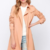 SoHo to Speak Blush Trench Coat
