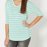 Coral Striped Dolman Top | Long Sleeve | rue21