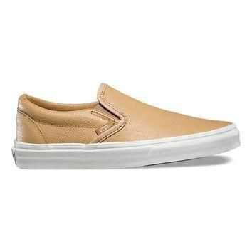 Embossed Leather Slip-On | Shop Shoes At Vans