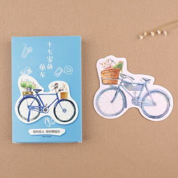 30 pcs/pack My 17 Years Bike Greeting Card Postcard Birthday Letter Envelope Gift Card Set Message Card
