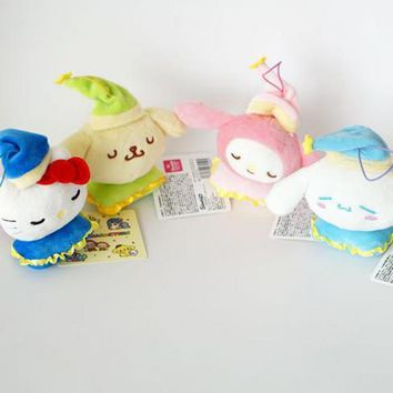 Cute Cartoon My Melody Hello Kitty Pudding Dog Cinnamoroll Big Eear Dog Plush Toy Doll Stuffed Animal Sleeping Pillow Pendant