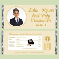 Button Photo First Communion Candy Bar Wrappers