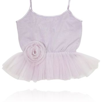 [ PRE ORDER *] DOLLY by Le Petit Tom ® Cami Top with Rosette violet