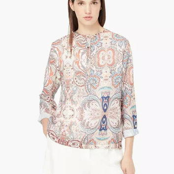 Winter Women's Fashion Print Blouse [6513446343]
