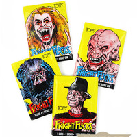 Fright Flicks Trading Cards (Set of 4 Packs)