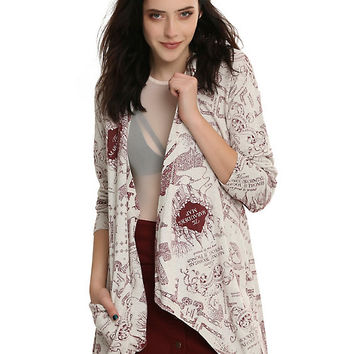 Harry Potter Marauder's Map Flyaway Cardigan