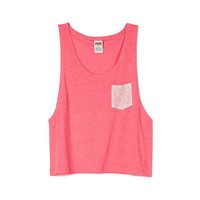 Cropped Muscle Tank - PINK - Victoria's Secret