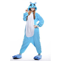 Unisex Adult Pajamas  Cosplay Costume Animal Onesuit Sleepwear Suit   Hippopotamus