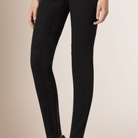 Skinny Fit Low-rise Power-stretch Jeans Black/charcoal | Burberry