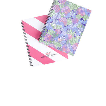 Large Rep Stripe and Pineapple Notebook Set (2)