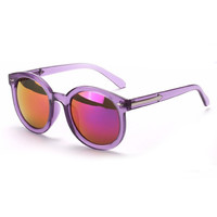 Sophia Pastel Purple Mirrored Sunglasses