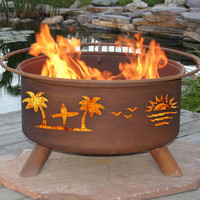 California Surfer Pacific Coast Portable Grilling Fire Pit