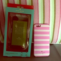 Kate Spade ♠️Pink Striped IPhone 6s phone case