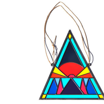 David Scheid Stained Glass Sunrise Triangle