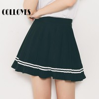 tulle skirts women school preppy style skirt high waist pleated mini skirt chiffon sexy student skater skirt lolita summer 2017