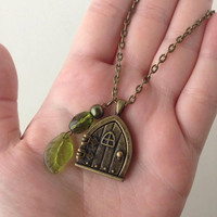 Hobbit Hole Locket BRONZE Opens to picture space! -Lord of the Rings Hobbit Door Inspired- LotR Tolkien Pendant- Nerd Jewelry & Geeky Gift