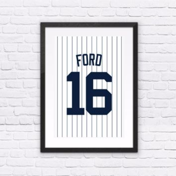 Whitey Ford Number 16 Jersey