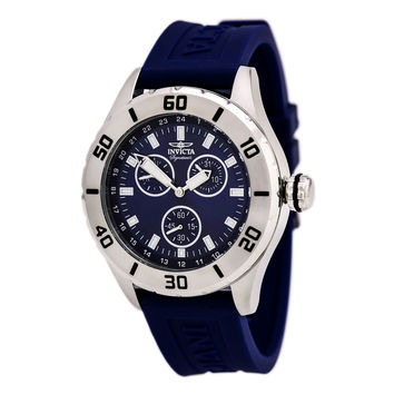 Invicta 7055 Men's Signature II Blue Dial Blue Rubber Strap Watch