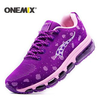 ONEMIX Sneakers Air cushion running shoes for woman Knitting Adult Shoes Breathable Outdoor sport