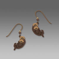 Sienna Sky Earrings - Sea Otter with Pup