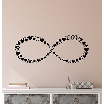 Vinyl Wall Decal Infinity Symbol Love Romance Hearts Ornament Stickers (3902ig)