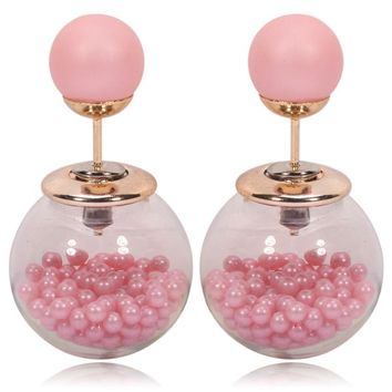 Gum Tee Tribal Earrings - Caviar Collection Pink