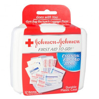 Johnson & Johnson First Aid Kit, 12 Piece Kit