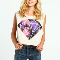 GALACTIC DIAMOND CROPPED TEE