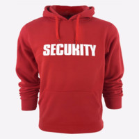 Fashion letters hoodie pullover sweater Red