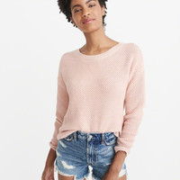 Womens Textured Crew Sweater | Womens Tops | Abercrombie.com