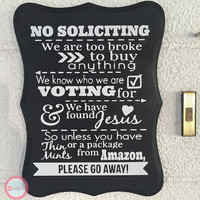 No soliciting Sign, No Solicitation Sign, no solicitors, home decor, Door sign, Porch Sign, wood sign, front door sign, welcome sign outdoor