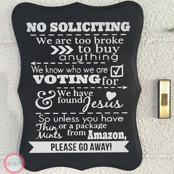 Shop Decorative No Soliciting Signs For Home On Wanelo