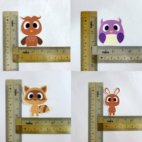 Woodland Animals Stickers (Owl, Raccoon, Rabbit) - PICK A SET