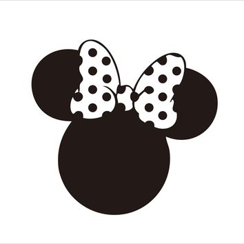 MINNIE MOUSE Party Decorations Decal Sticker For Girls Birthday Party Baby Show Glass Art Decor