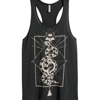 H&M Long Printed Tank Top $17.99