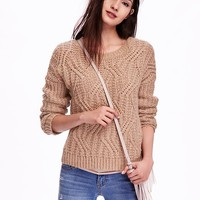Old Navy Womens Wool Blend Sweater