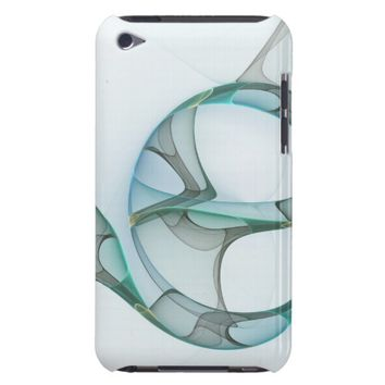 Fractal Art Blue Turquoise Gray Abstract Elegance iPod Case-Mate Case
