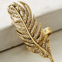 Wisp Feather Ring by Alkemie Gold 8 Rings