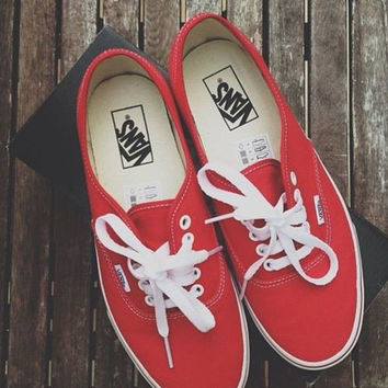 VANS Women Low Solid Canvas Summer Flats Platform Shoes