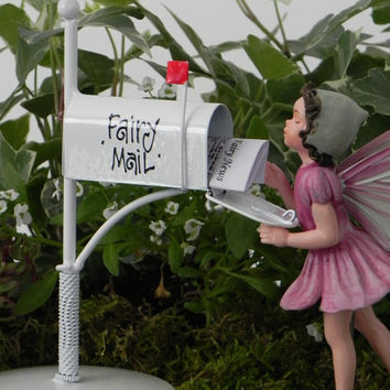 Fairy Garden Accessories Mailbox for Fairy Mail miniature newspaper - fairy accessory - mailbox for fairy letters - tooth fairy mailbox