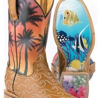 Tin Haul Women's Aloha Cowgirl Boots |Tin Haul