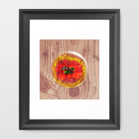 Flower Bubble across wood Framed Art Print by Robert Gipson