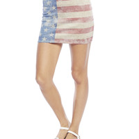 American Flag Mini Skirt | Wet Seal