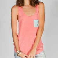 Volcom Color Clash Womens Tank Coral  In Sizes